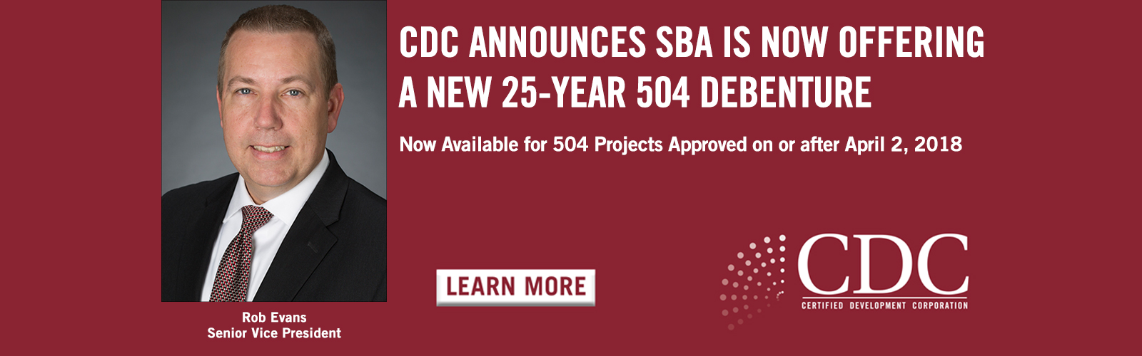 CDC Announces SBA is Now Offering a New 25-Year 504 Debenture