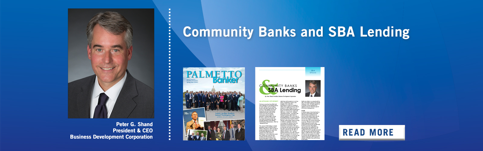 Community Banks and SBA Lending