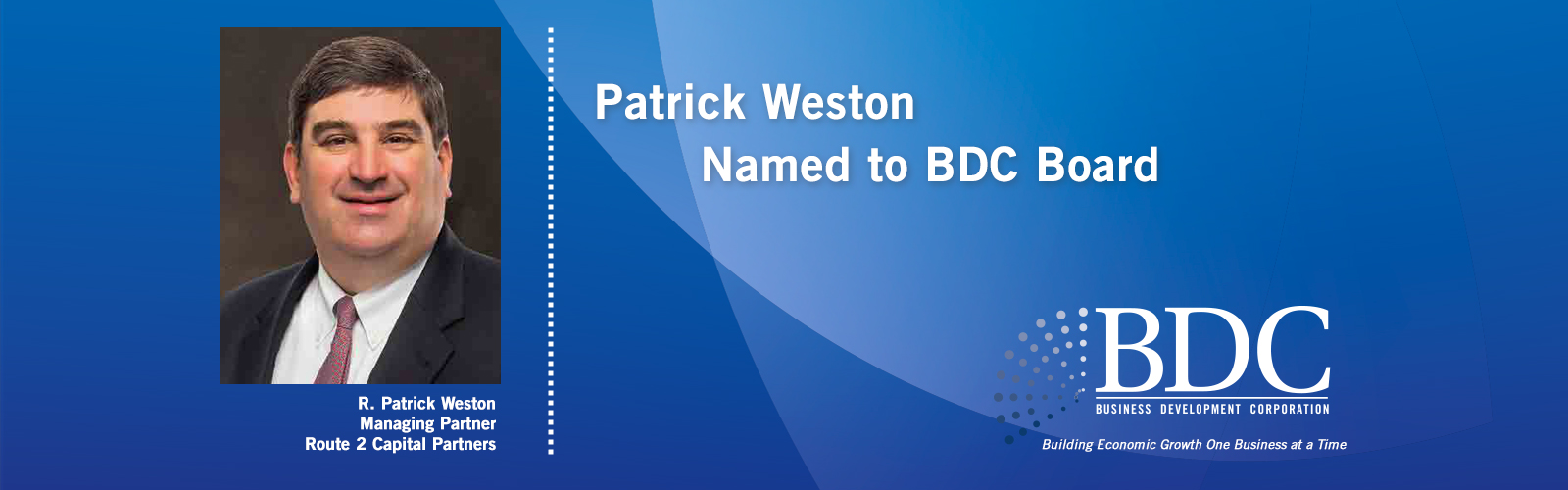 Patrick Weston Named to BDC Board